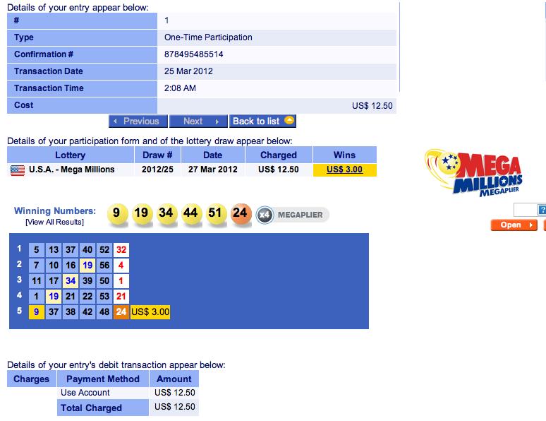 super lotto mega millions past winning numbers