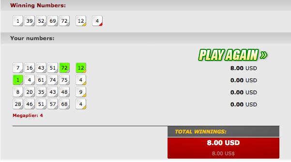 USA Mega Millions Lottery